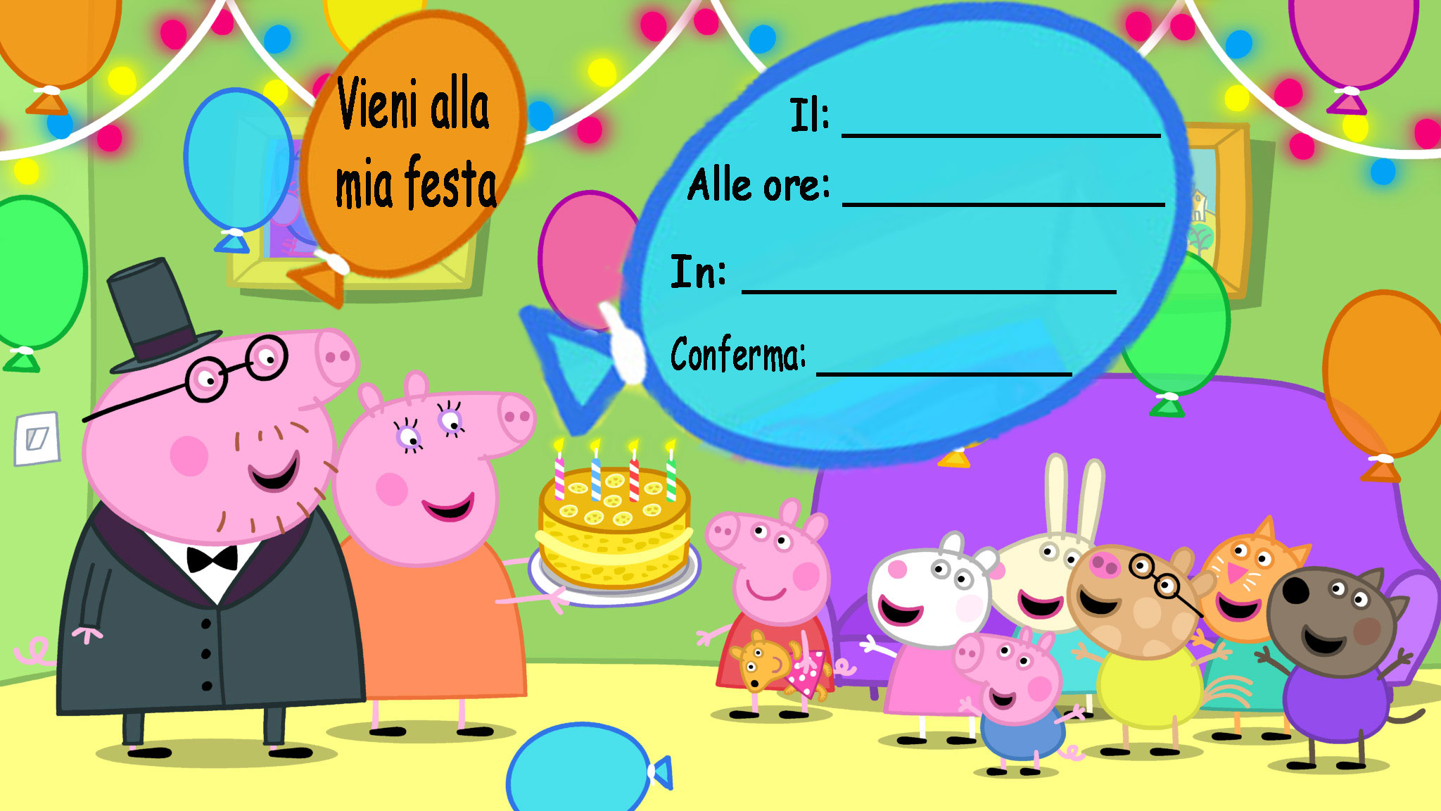 Preferenza Inviti di compleanno e per feste Peppa Pig - Le feste di Emma ZZ84