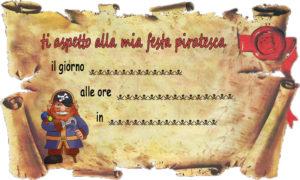 Inviti feste pirati