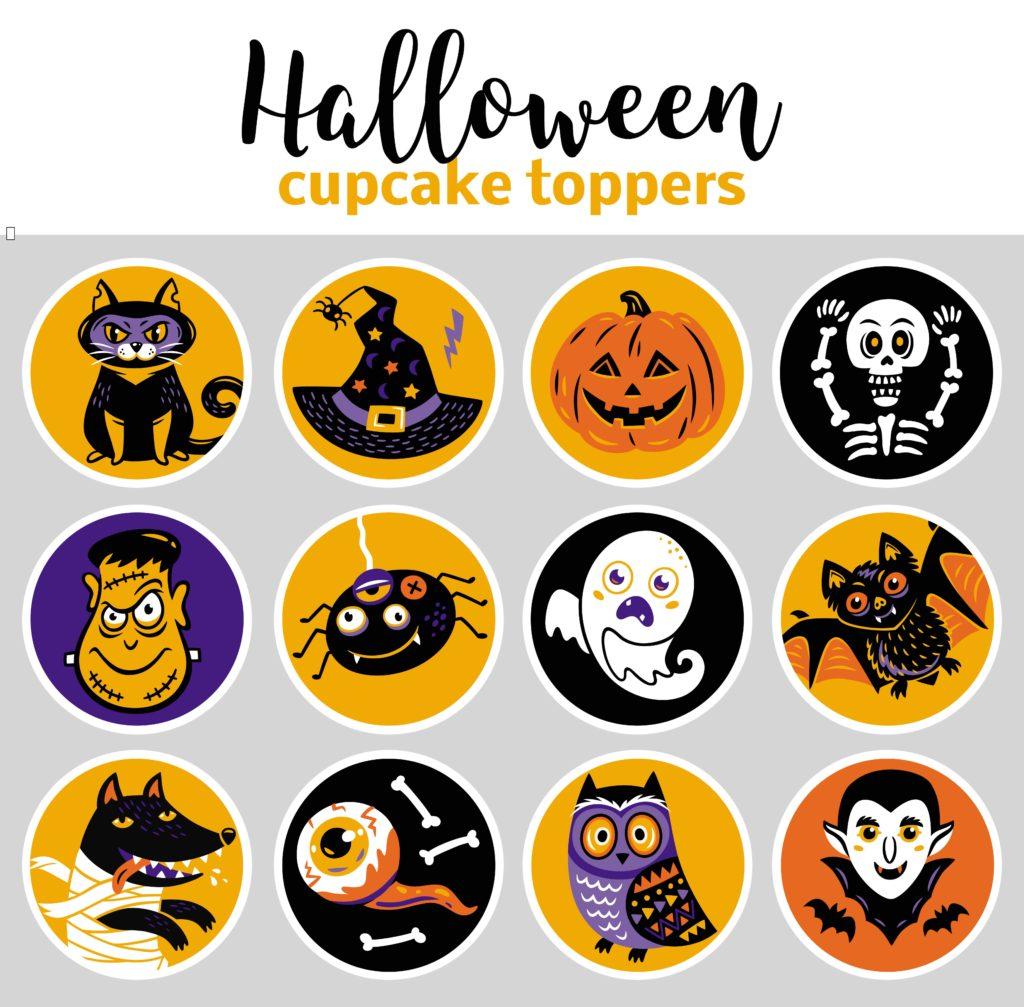 Decorazioni di Halloween: topper per panini