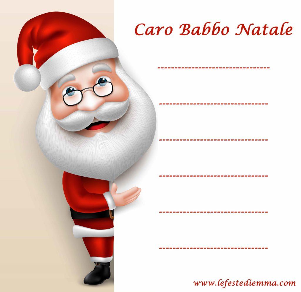 Letterine per Babbo Natale da scaricare gratis