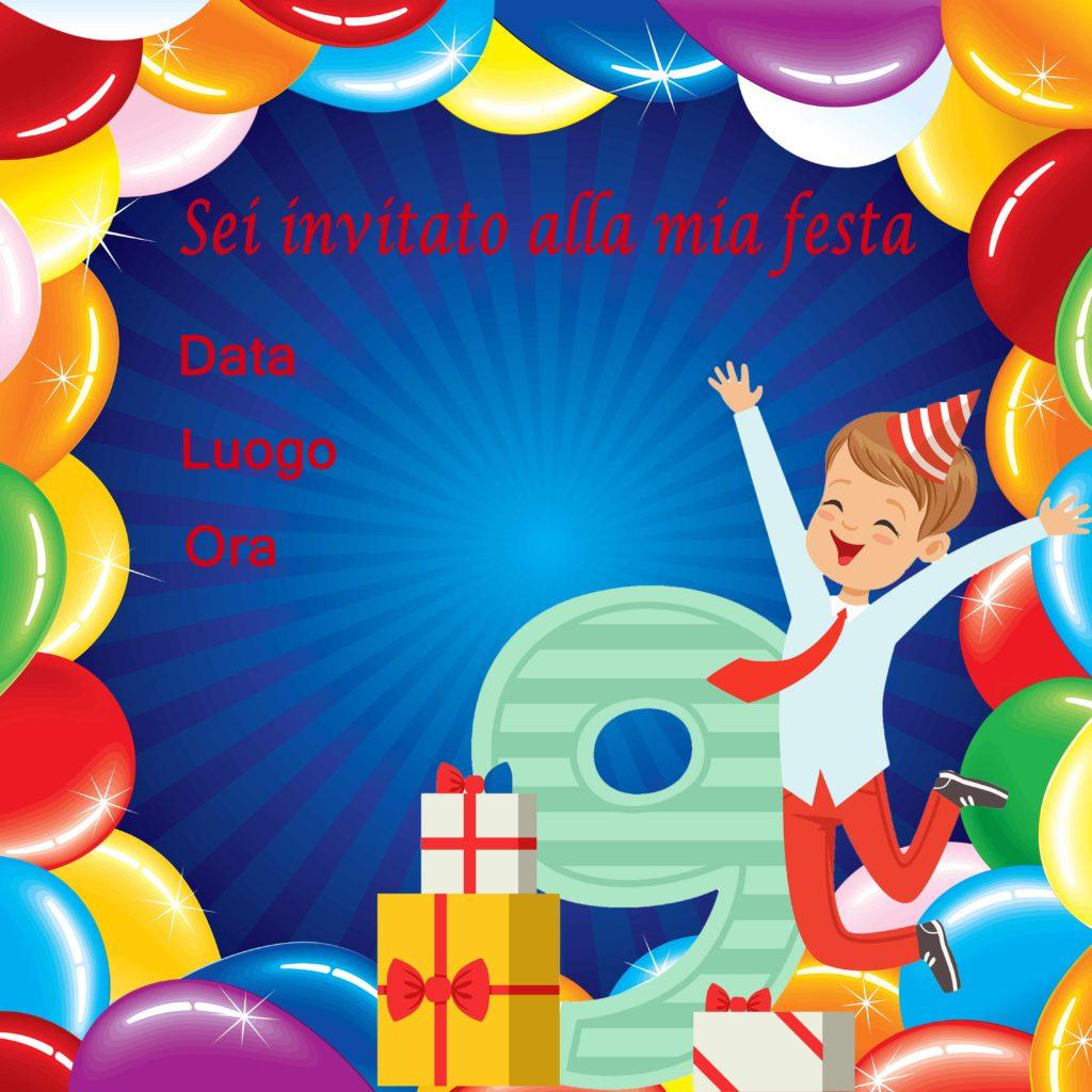 biglietto di invito per feste di compleanno