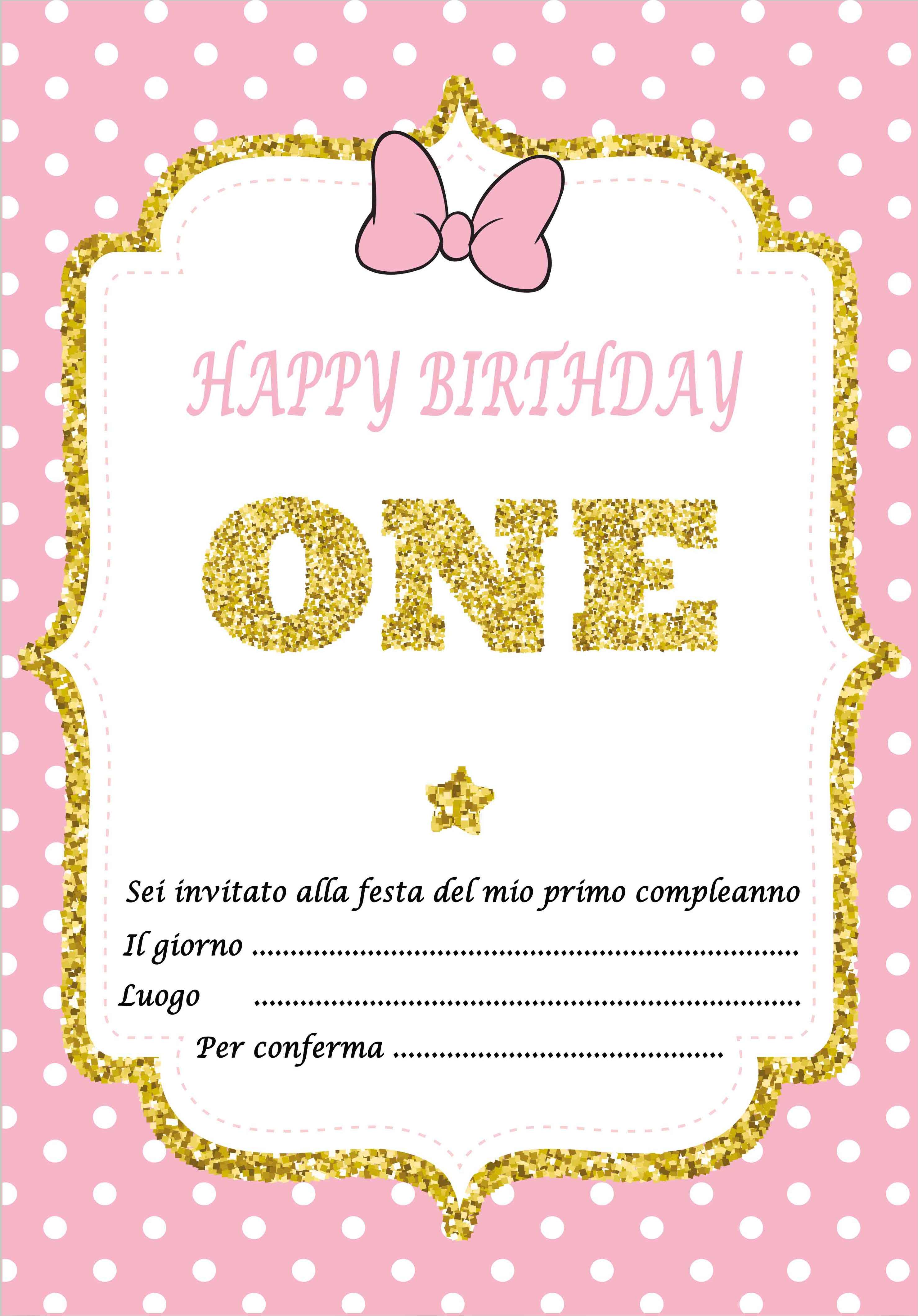 Inviti per feste di compleanno primo anno da stampare