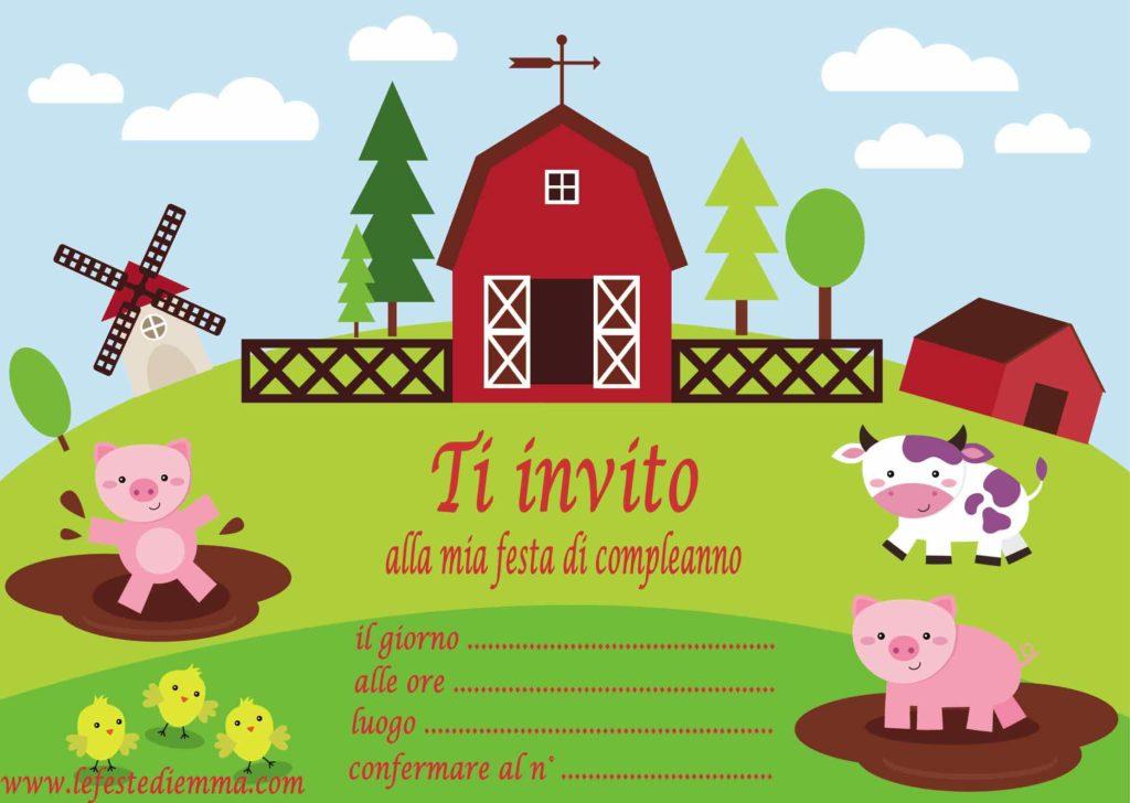 Inviti per feste di compleanno bambini, da scaricare gratuitamente