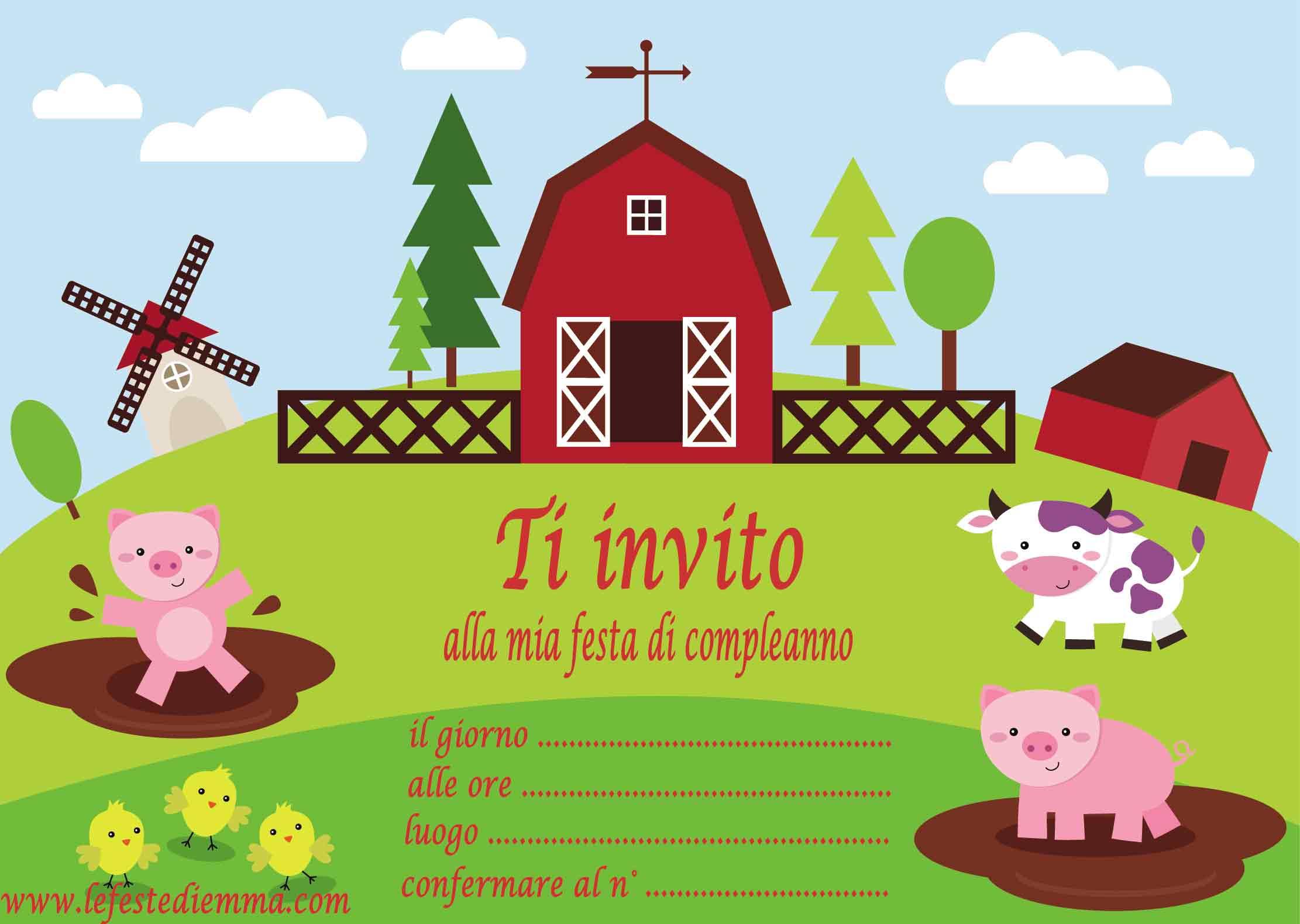 Download inviti per feste le feste di emma - Immagini di animali da stampare gratuitamente ...