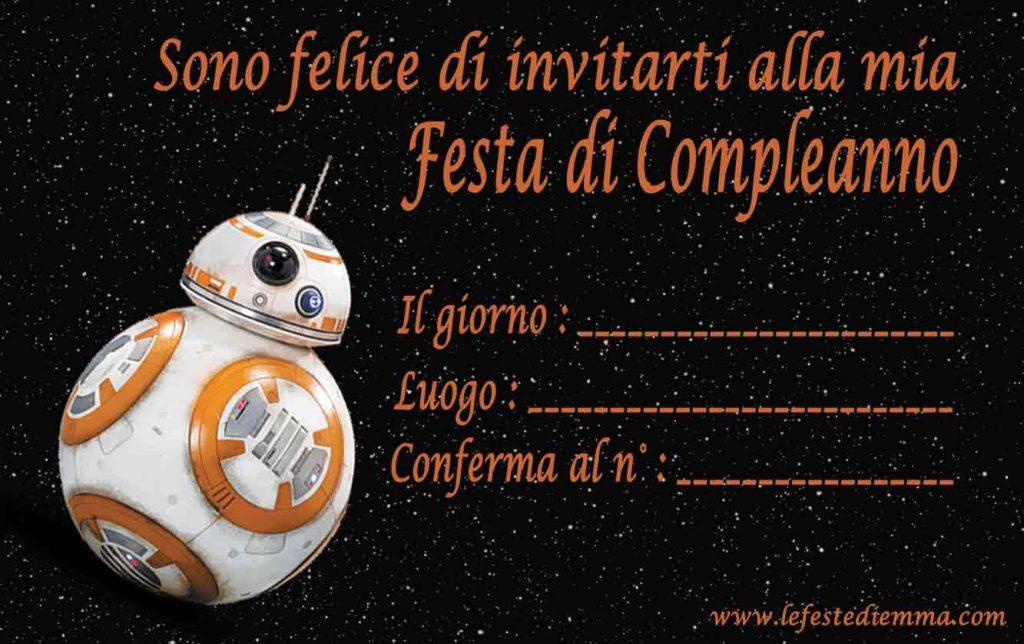 Biglietti di invito per compleanni, Star Wars