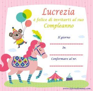 Inviti per feste di compleanno fai da te, Lucrezia