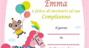 copertina Inviti di compleanno personalizzati con il nome Emma