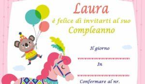 copertina Inviti per feste di compleanno personalizzati con il nome Laura