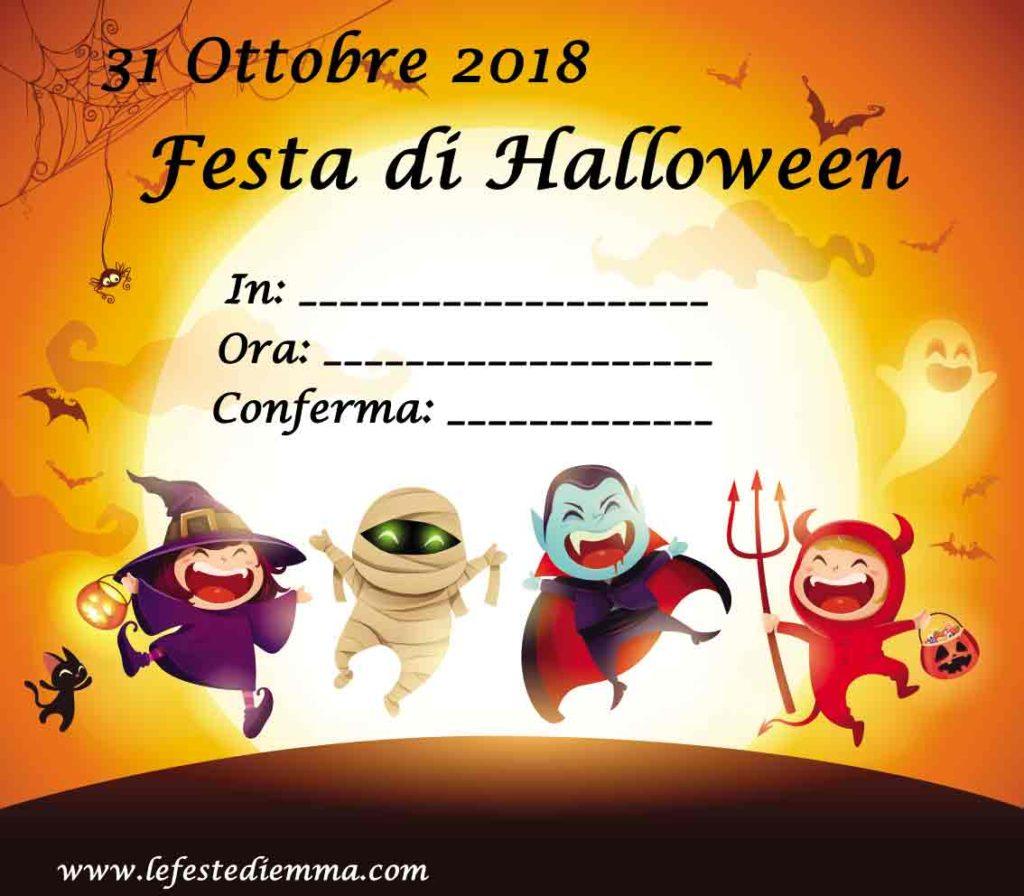 Inviti per festa di Halloween da stampare, una festa mostruosa