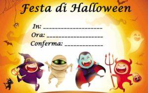 copertina Inviti per festa di Halloween da stampare, una festa mostruosa