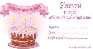 Inviti per feste di compleanno stampabili gratis, Ginevra