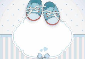 copertina Inviti per baby shower bimbo con scarpine
