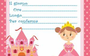 copertina Inviti per feste di compleanno principessa stampabili on line