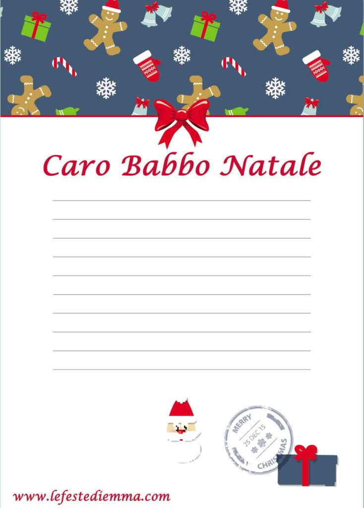 Letterine di natale, caro Babbo Natale