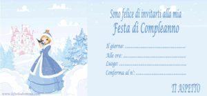 Inviti per feste di compleanno stampabili on line, Frozen