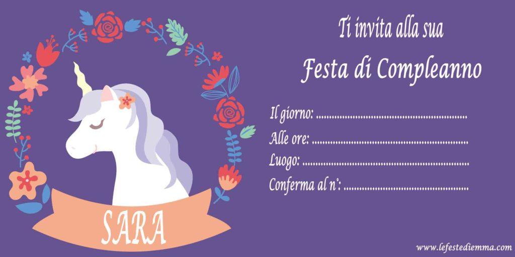 Inviti Per Feste Di Compleanno Per Sara Le Feste Di Emma